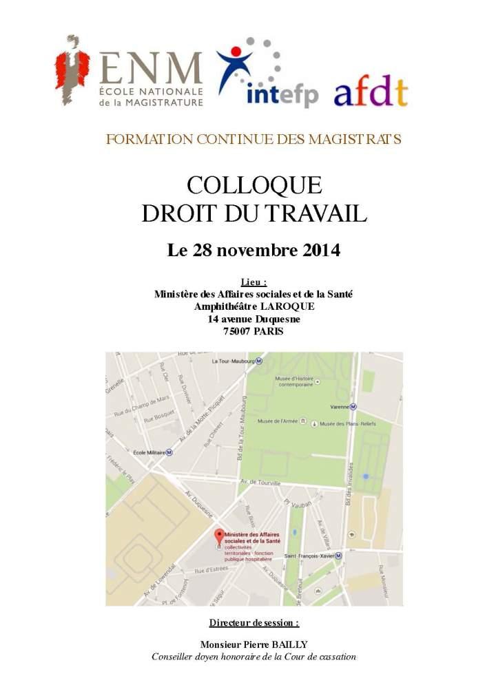Colloque Droit du travail ENM INTERP AFDT - La protection de l'emploi - Le programme _Page_1